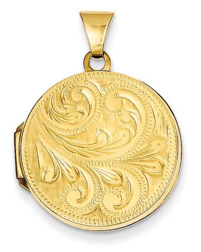 Paisley Scroll Locket in 14K Gold