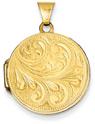 Paisley Scroll Locket in 14K Gold