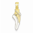 Ballet Shoe Pendant in 14K Gold