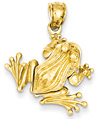 14K Gold 3D Moveable Frog Pendant