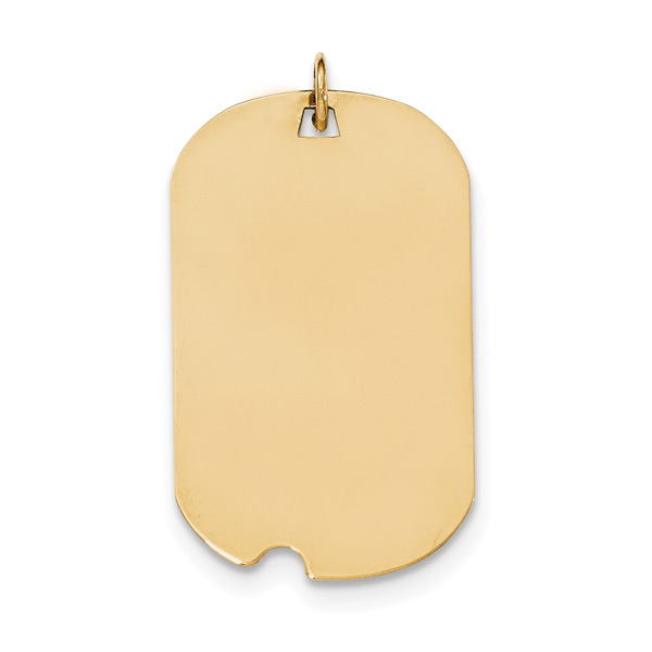 14K Gold Engravable Dog Tag Necklace