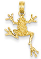 14K Gold Spotted Frog Pendant