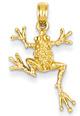14K Gold Spotted Frog Pendant