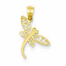 Dragonfly Pendant in 14K Gold
