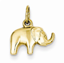 Elephant Charm Pendant in 14K Gold
