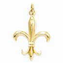 Fleur De Lis Charm Pendant in 14K Gold