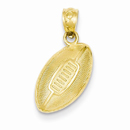 14K Gold Football Pendant