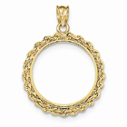 14K Gold Rope Bezel for 1/4 Ounce Panda Coin