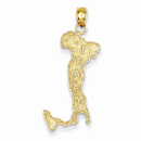 Italy Charm Pendant, 14K Gold