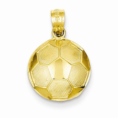 14K Gold Soccer Ball Pendant