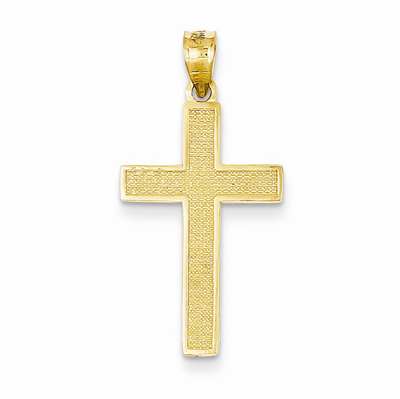 14K Gold Cross of Calvary Pendant