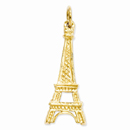 Eiffel Tower Charm Pendant in 14K Gold