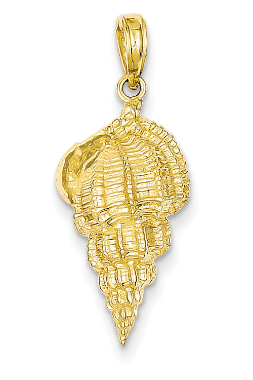 Conch Shell Pendant in 14K Gold