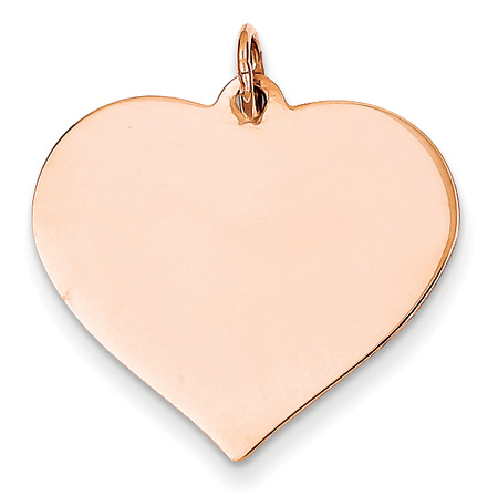 Engravable 14K Rose Gold Heart Pendant