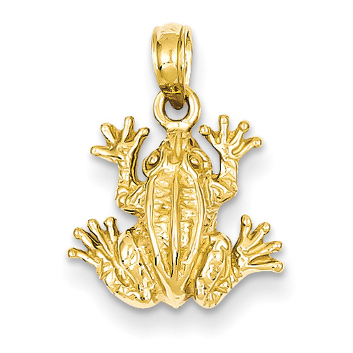 Frog Pendant in 14K Solid Gold