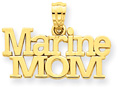 Marine Mom 14K Gold Pendant