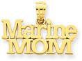 Marine Mom 14K Gold Pendant