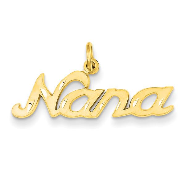 Nana Charm Pendant in 14K Gold