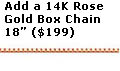 Rose Gold Box Chain 18 Inches