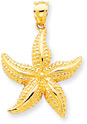 Starfish Pendant in 14K Gold