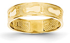 14K Gold Footprints Band Ring
