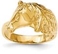 14K Gold Horse Ring for Women