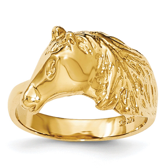 14K Gold Horse Ring for Women