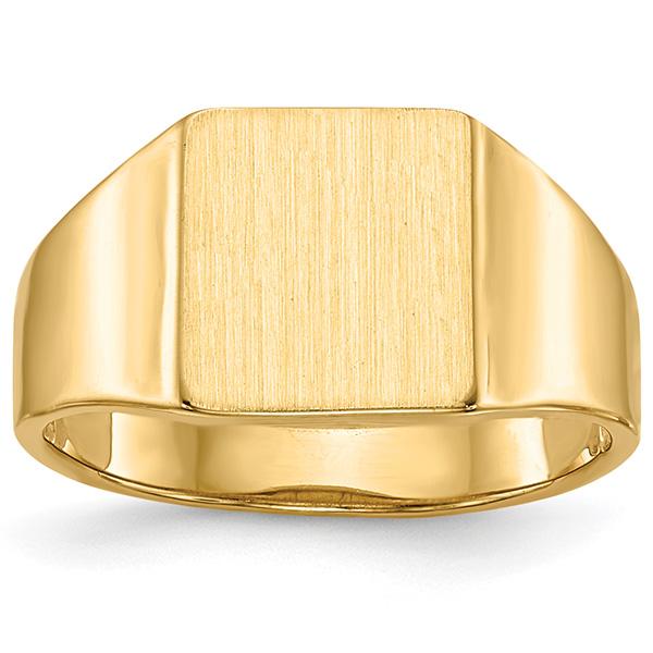 Women's 14K Gold Engravable Rectangular Signet Ring