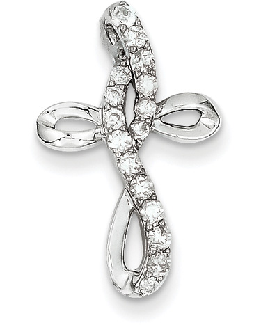 1/3 Carat Diamond Twist Cross Pendant
