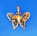 14K Gold Butterfly Pendant (Pendants, Apples of Gold)