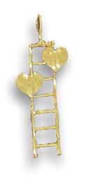 Buy Two Hearts on Ladder Pendant – 14K Gold