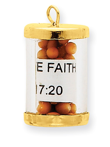 Mustard Seeds Faith Pendant in 14K Gold