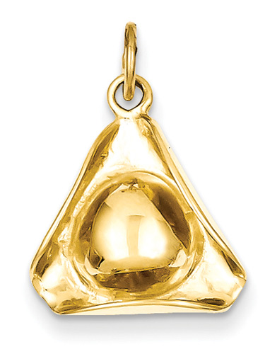 Colonial Hat Pendant, 14K Gold