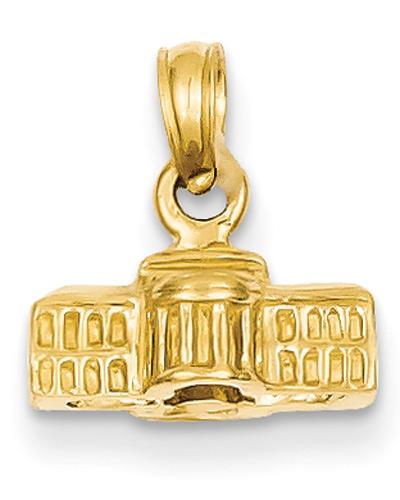 White House Pendant in 14K Gold