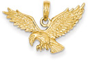 Eagle Pendant in 14K Gold