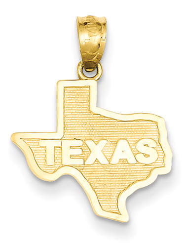 Texas Pendant, 14K Gold