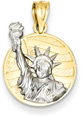 Statue of Liberty Pendant in 14K Two-Tone Gold