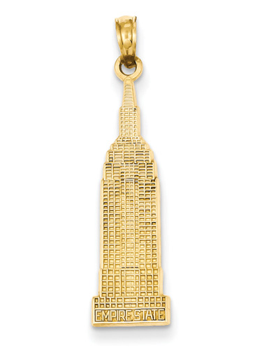 Empire State Building Jewelry Pendant in 14K Gold