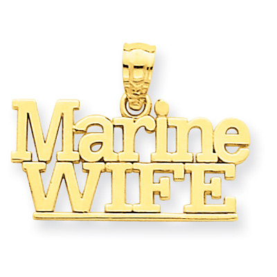 Marine Wife Pendant in 14K Gold