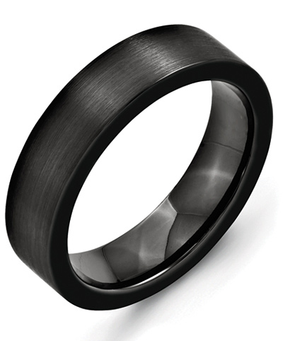 Black Ceramic Flat Band