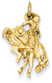 Bucking Bronco Rider, 14K Gold
