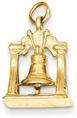 Liberty Bell Pendant, 14K Gold