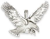 14K White Gold Sweeping Eagle Pendant