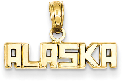 Alaska Jewelry Pendant in 14K Gold