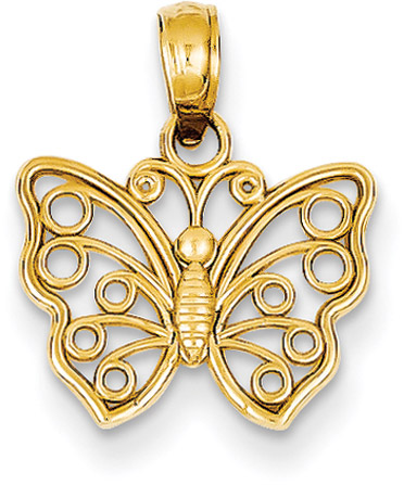 Small 14K Gold Butterfly Pendant