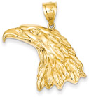 Eagle Head Pendant in 14K Gold