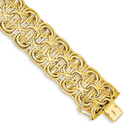 Woven Link Bracelet in 14K Yellow Gold