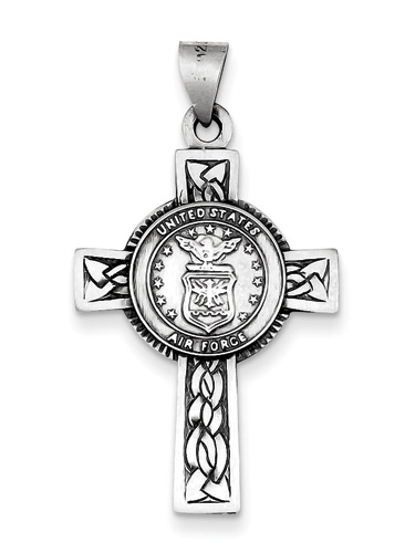 US Air Force Sterling Silver Cross Pendant