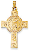 United States Air Force Cross Pendant in 14K Gold