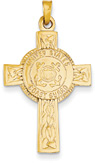 US Coast Guard Cross Pendant in 14K Gold